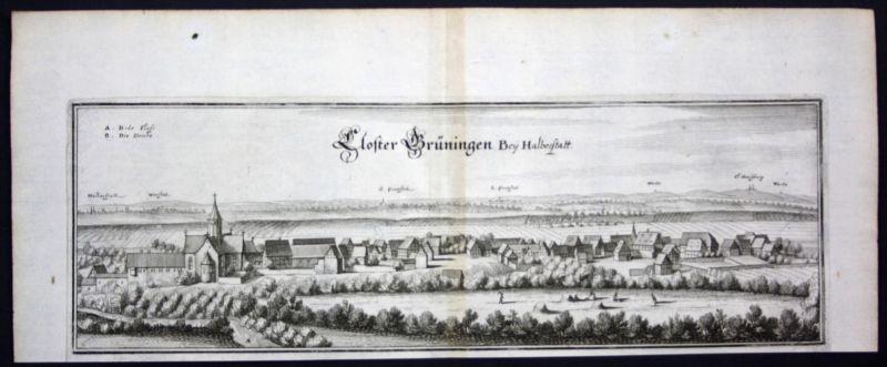 Kloster Gröningen / LK Börde - Kupferstich Merian