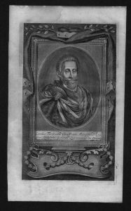 Fürst Karl II von Mansfeld General engraving Kupferstich Portrait