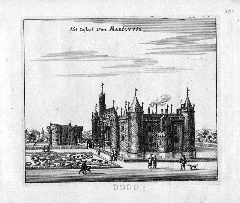 Chateau de Montagu Marcoussis Frankreich France gravure estampe Kupferstich