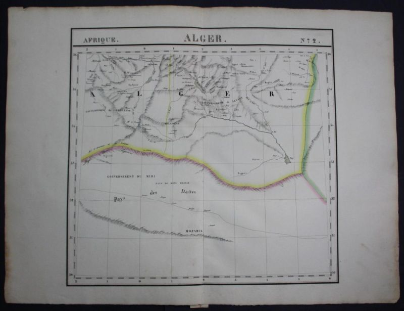Algeria Algerien North Africa Afrika map Karte Vandermaelen Lithographie