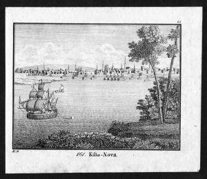 Kiliya Ukraine Kilija Boot Schiff Ansicht view Lithographie antique print
