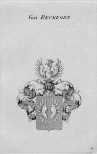 Reckrodt Wappen Adel coat of arms heraldry Heraldik crest Kupferstich