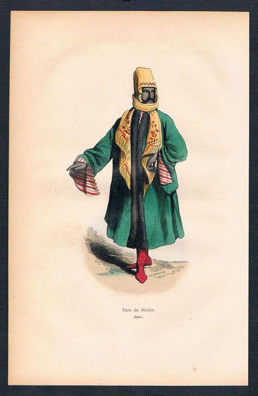 Türkei Turkey Asien Asia costumes Trachten antique print