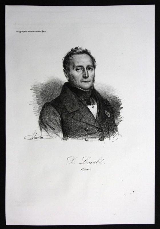 Marie Denis Larabit Politiker politician Frankreich Lithographie Portrait