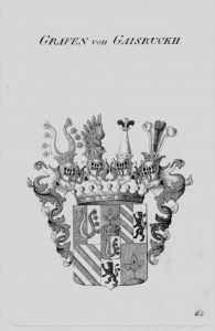 Gaisruckh Wappen Adel coat of arms heraldry Heraldik crest Kupferstich