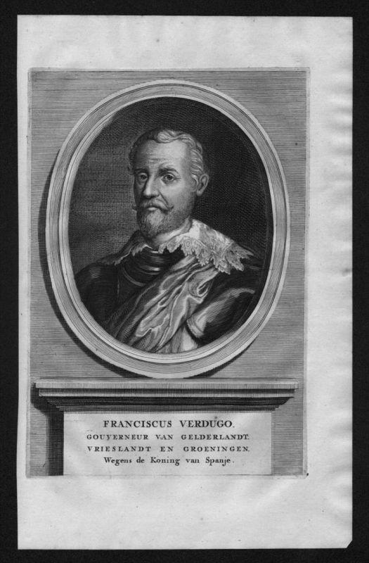 Francisco Verdugo Holland Niederlande Gelderland Portrait Kupferstich