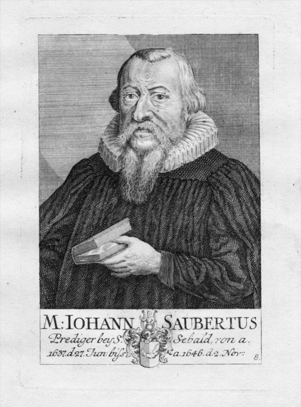 h. Johannes Saubert Theologe St. Sebald Sebalduskirche Nürnberg Portrait