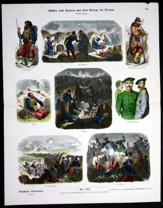 Militär - Krieg - Orient - Soldaten - Münchener Bilderbogen