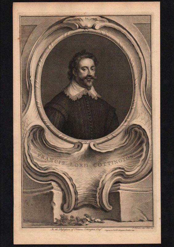 Francis Baron Cottington of Hanworth Lord engraving Kupferstich Portrait