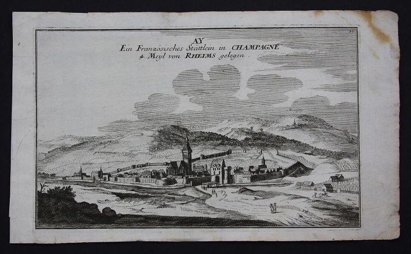 Ay Champagne Reims gravure Kupferstich Bodenehr