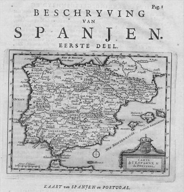 - Espana Spain Portugal map Karte