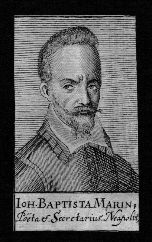 Johannes Marin Dichter poet Neapel Napoli Italy Kupferstich Portrait
