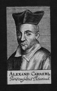 Alessandro Cariero Jurist lawyer Italien Italy Kupferstich Portrait