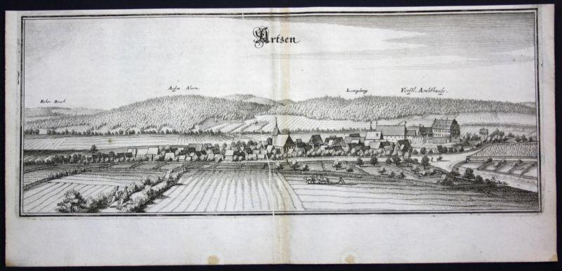 Aerzen / LK Hamelin - Pyrmont - Kupferstich Merian