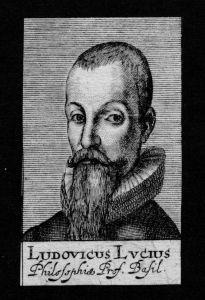 Ludovicus Lucius Professor Basle Basel Schweiz Kupferstich Portrait
