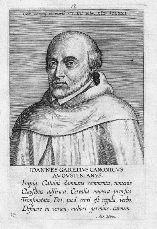 Jean Garet Johannes Garetius Kupferstich Portrait engraving