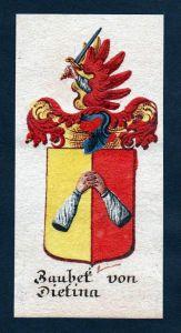 Baubet von Dietina Böhmen Wappen Adel coat of arms Manuskript