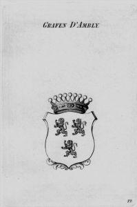 Ambly Wappen Adel coat of arms heraldry Heraldik crest Kupferstich