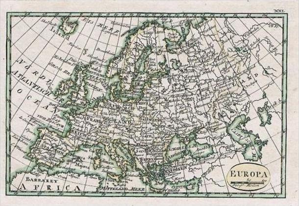 Europa Europe Map Karte Schindelmayer carte Kupferstich engraving continent