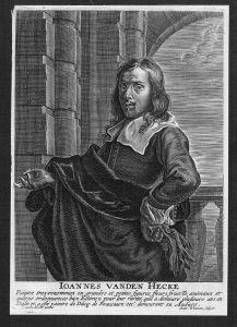 Jan van den Hecke painter Kupferstich Portrait engraving