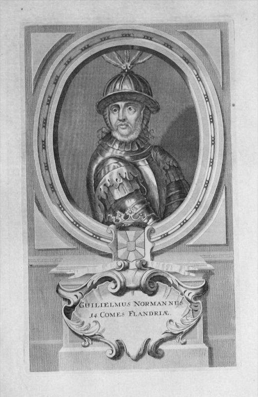 Wilhelm I. von Flandern Flandre Portrait gravure engraving Kupferstich
