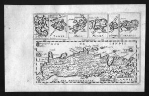 Candia Crete Kreta Greece island Corfu islands Jollain map carte Karte