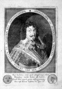 Ludwig XIII. König Frankreich Navarra Portrait