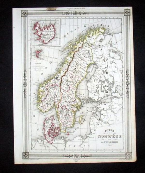 Skandinavien Norway Sweden Denmark Karte Map