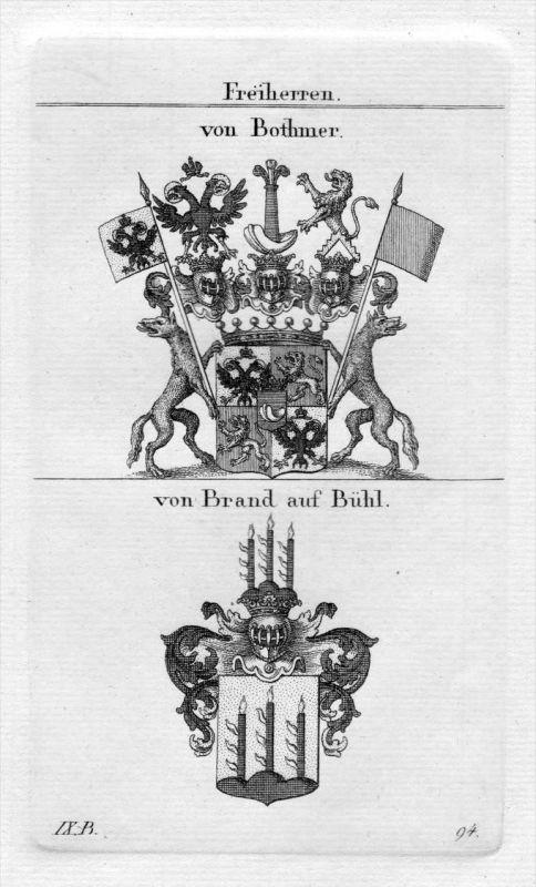 Bothmer / Brand - Wappen Adel coat of arms heraldry Heraldik Kupferstich