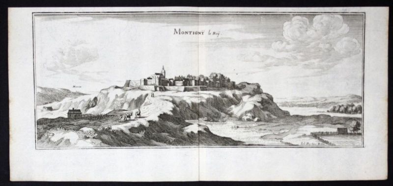 Montigny-le-Roi Haute-Marne gravure estampe Merian engraving
