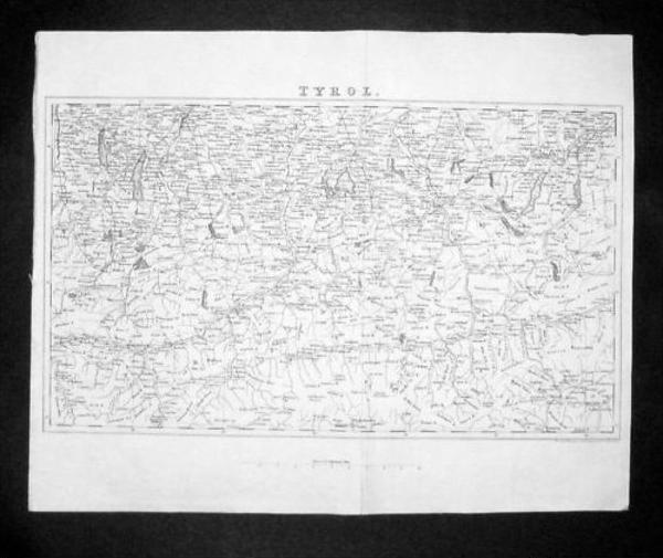 Tirol Italia Italy Carta incisione Map