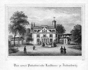 Zschachwitz Putiatinsches Landhaus Sachsen Original Lithographie