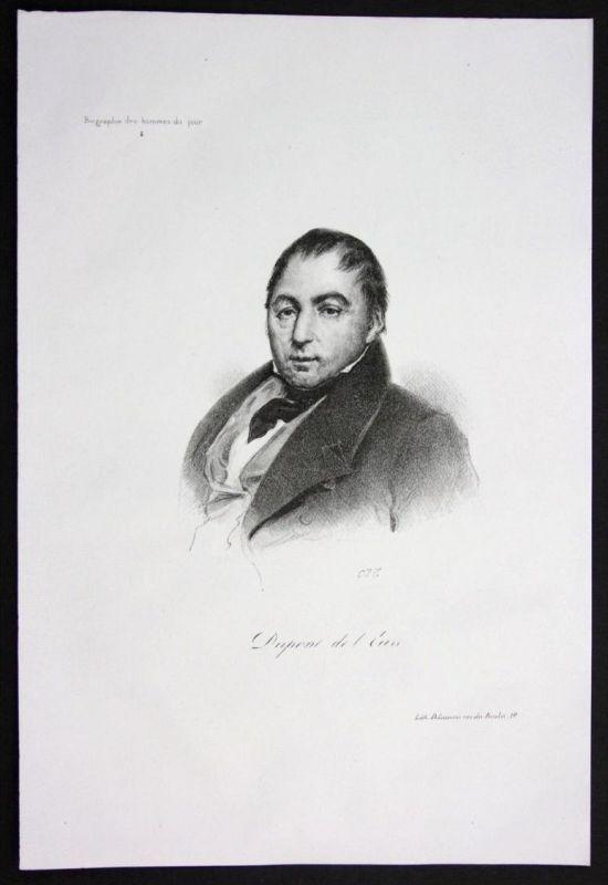 Jacques Charles Dupont de Eure Politiker politician Lithographie Portrait