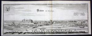 Neustadt am Rübenberge - Gesamtansicht - Kupferstich Merian