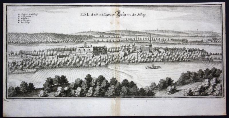 Bevern / LK Holzminden - Kupferstich Merian