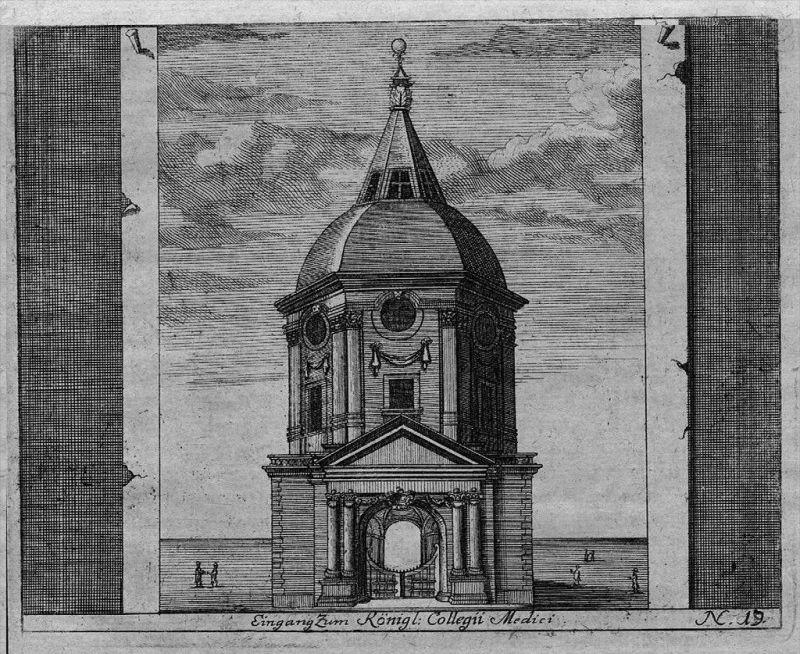 Collegium Medici London - engraving Kupferstich