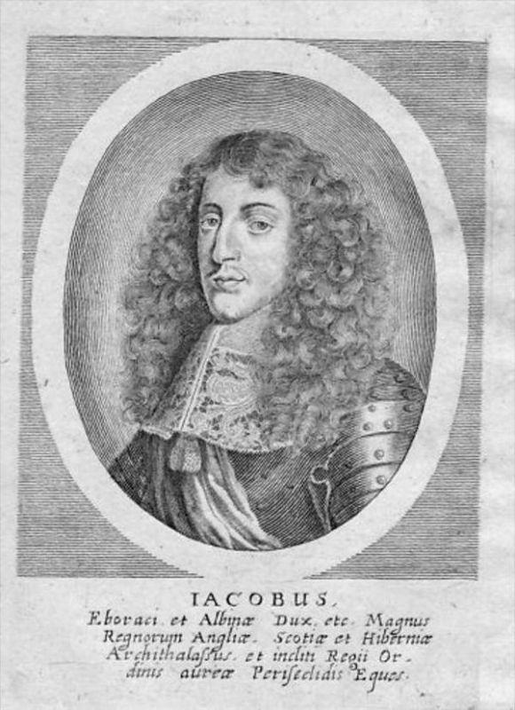 James II England Scotland Ireland Portrait Merian