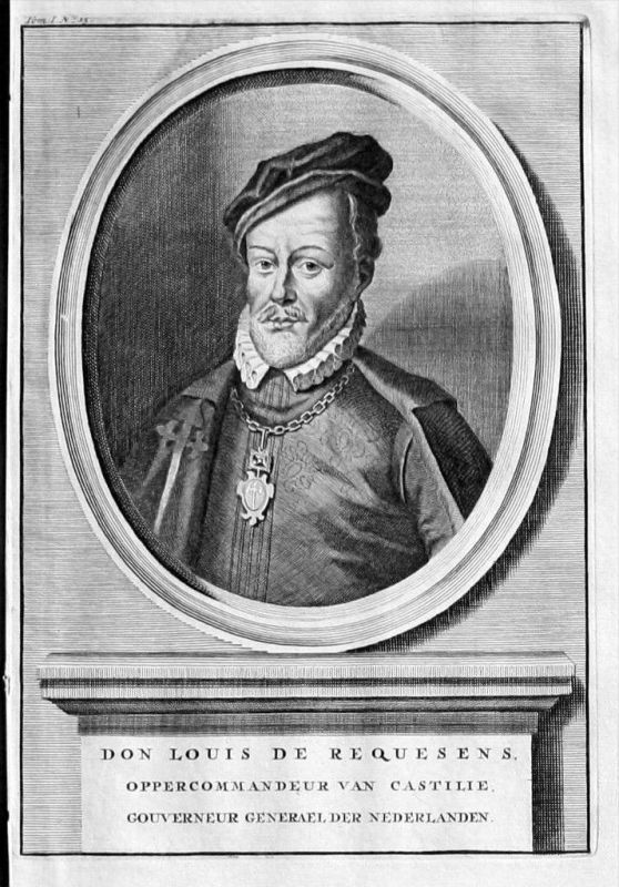 Luis de Zuniga y Requesens Espana Portrait Kupferstich engraving