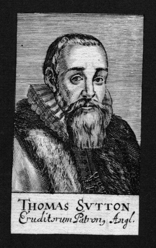 Thomas Sutton trader Kaufmann England Great Britain Kupferstich Portrait