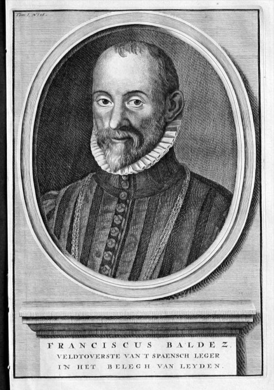 Francisco Valdez Espana Leiden Portrait Kupferstich engraving