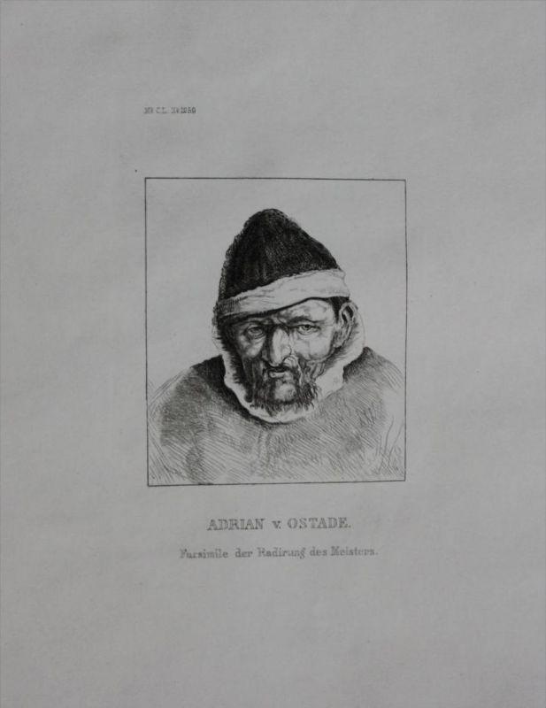 Adriaen van Ostade Maler Niederlande engraving Stahlstich Portrait