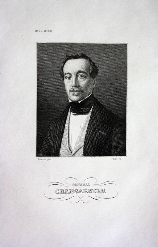 Nicolas Changarnier General Frankreich France Stahlstich Portrait