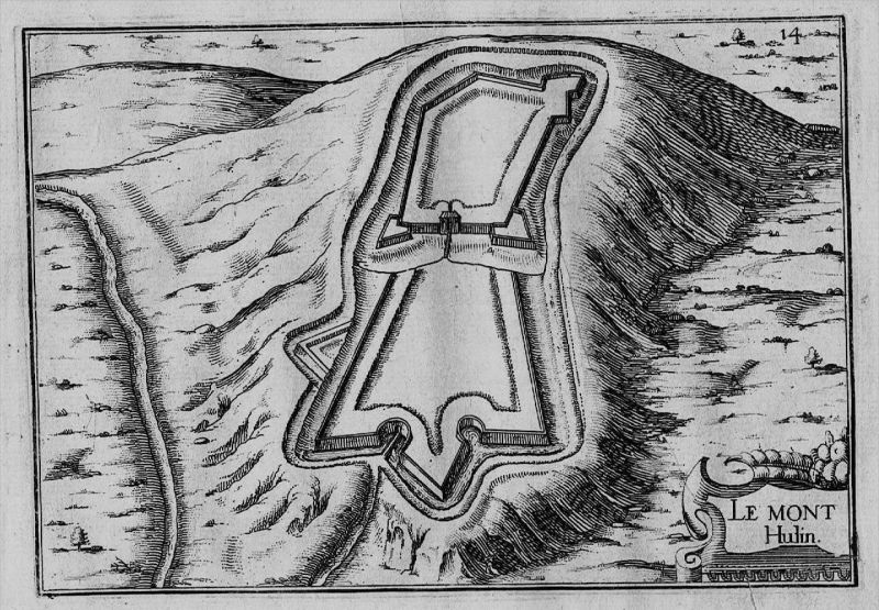 Mont Hulin Pas-de-Calais Frankreich France gravure Kupferstich Tassin