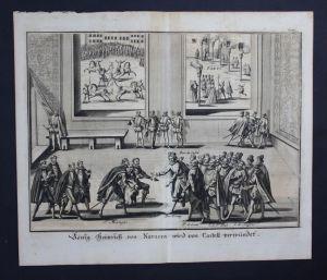 Heinrich IV Frankreich König Roi Attentat Kupferstich engraving