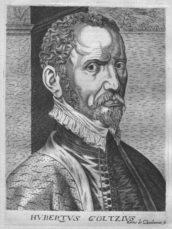 Hubert Goltzius engraver painter Portrait Kupferstich engraving gravure