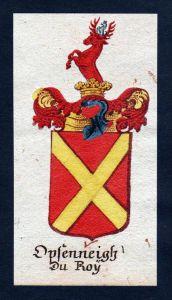 Opfenneitz du Roy Böhmen Wappen Adel coat of arms Manuskript