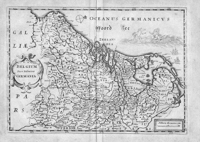 Holland Nederland map Kaart Colom Kupferstich gravure carte Karte