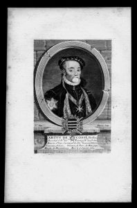 Artus de Cosse Baron de Gonnor Marschall Frankreich Kupferstich Portrait