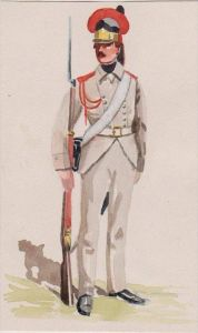 Russland Russia Militaria Millitär Uniform Uniformen Original Aquarell