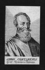 Simon Contarenus Jurist lawyer Kurator Italien Kupferstich Portrait